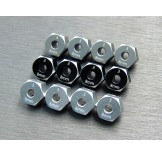 (SCX3-6063-8) SCX10-3 / Capra alum. hex adapter (8mm)