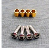 (SCX3-4067) SCX10-3 / Capra brass knuckle bushing set