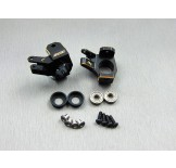 (SCX2-4412BK) SCX10-2 brass heavy knuckle (Black coating)