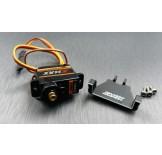 (SCX24-6068eC2) SCX24 alum. servo mount (for emax servo use) & emax ES08 MA2 analog servo combo set
