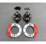 (END-4415FS) Enduro brass rear brake adapter (with scale brake rotor & caliper set)