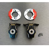 (END-4412FS) Enduro brass heavy knuckle full set (with scale brake rotor & caliper set)