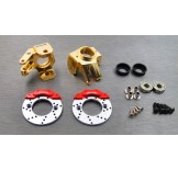 (SCX2-4412FS) SCX10-2 brass heavy knuckle full set (with scale brake rotor & caliper set)