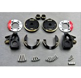 (SCX3-4412C4)  SCX10-3 / Capra brass Knuckle & Portal Cover Set & Scale Brake Rotor & 8mm hex