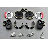 (SCX3-4412C4)  SCX10-3 / Capra brass Knuckle & Portal Cover Set & Scale Brake Rotor & 8mm hex