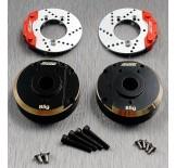 (TRX4-4413C2H) TRX-4 brass portal knuckle heavy cover & scale big brake rotor & caliper combo set