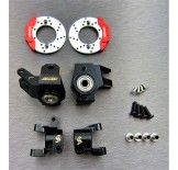 (SCX2-4412C3) SCX10-2 brass heavy steering knuckle & hub carrier & scale brake rotor & caliper set