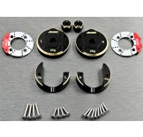 (SCX3-4412C3)  SCX10-3 / Capra brass Portal Cover Set & Scale Brake Rotor & 8mm hex