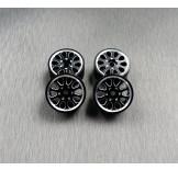(SCX24-6069) SCX24 Alum. wheel set (4pcs)