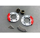 (SCX3-6412C2) SCX10-3 / Capra brass 8mm hex & scale brake rotor & caliper combo set