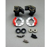 (SCX2-4412FSBK) SCX10-2 brass heavy knuckle full set (Black coating with scale brake rotor & caliper set)