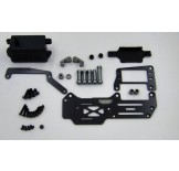 (SGT-1001S) Samix for Serpent Cobra GT carbon servo deck conversion kit full set