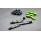 (SCX2-6045L) SCX10-2 Alum. outer drivershaft set