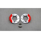 (TRX4-6412) TRX-4 scale brake rotor & caliper set (for samix trx4 brass portal knuckle cover use only)