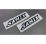 (SSR-001S) Samix chrome sticker (silver)