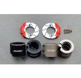 (SCX2-6415FS) SCX10-2 alum. rear brake adapter (with scale brake rotor & caliper set)