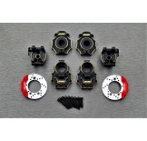 (TRX4-4464C4) TRX-4 brass rear hub carrier & rear portal drive housing & portal knuckle cover & scale brake rotor & caliper set