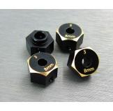 (SCX3-4063-8) SCX10-3 / Capra brass hex adapter (8mm)