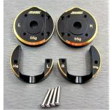 (SCX3-4012FS)  SCX10-3 / Capra brass Portal Cover full Set (88g)