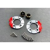(SCX3-6412C2) SCX10-3 / Capra brass 8mm hex & scale brake rotor & caliper combo set