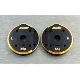 (SCX3-4012a) SCX10-3 / Capra brass Portal Cover (55g)