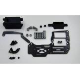 (SGT-1001S) Samix for Serpent Cobra GT carbon servo deck conversion kit full set
