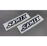 (SSR-001S) Samix chrome sticker (silver)